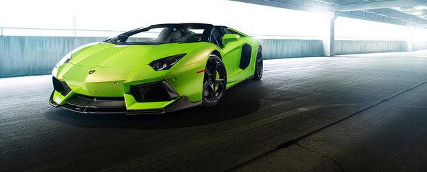 Un Lamborghini Aventador cu kit Vorsteiner si jante ADV1, pe nume The Hulk