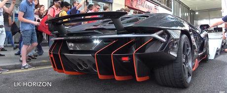 Un Lamborghini Centenario de 2,5 milioane de euro creeaza haos pe strazile din Londra