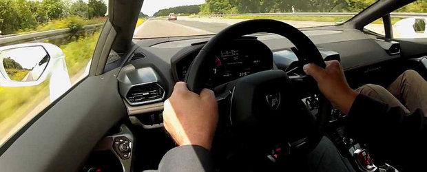 Un Lamborghini Huracan LP610-4 atinge 329 km/h pe Autobahn