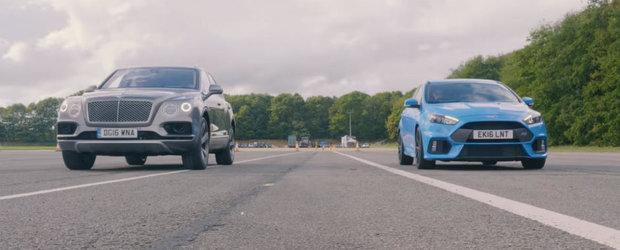 Un lucru e clar: Bentley-ul Bentayga e al naibii de rapid. Uite-l intr-o cursa cu Ford-ul Focus RS