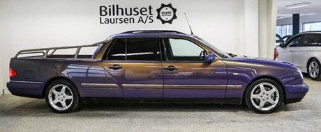 Un Mercedes E-Class lungit si cu bena e mult prea ciudat. Insa parca tot l-am vrea