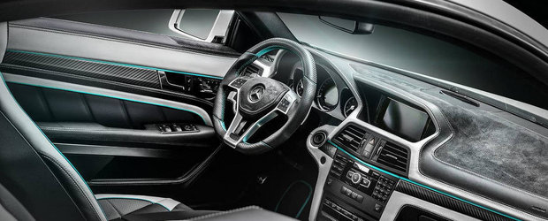 Un Mercedes E Coupe cu motor AMG si interior custom