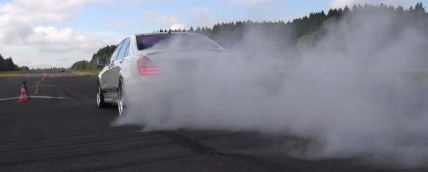 Un Mercedes S63 AMG ne arata ca si limuzinele de lux se pricep la... burnout