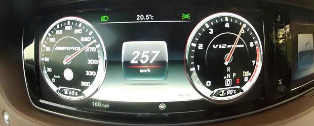 Un Mercedes S65 AMG W222 accelereaza de la 0 la 250+ km/h