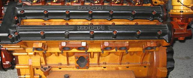 Un motor Ferrari V12... din lemn!