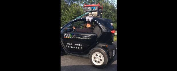 Un neamt a gasit solutia perfecta pentru autonomia masinilor electrice. Un generator pe plafon