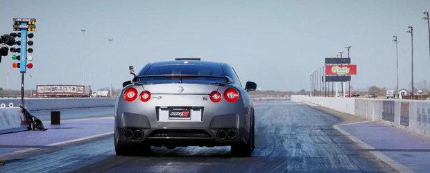 Un Nissan GT-R de 1.600 CP accelereaza de la 0 la 100 km/h in doar 1.6 secunde!
