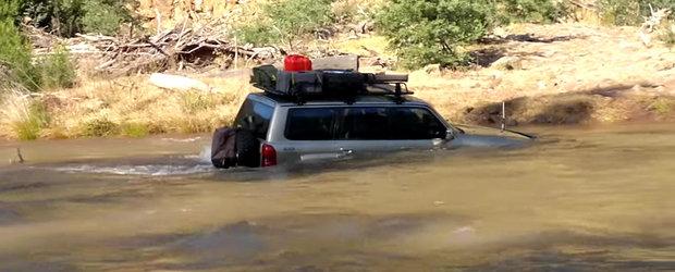 Un Nissan Patrol ne demonstreaza ca si masinile plutesc