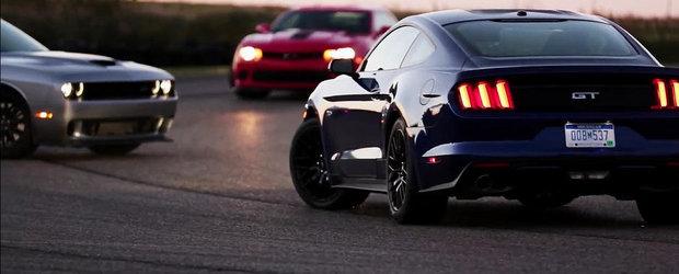 Un nou episod din razboiul muscle car-urilor, cu Chevy, Dodge si Ford