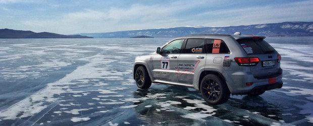 Un nou record mondial. Jeep Grand Cherokee Trackhawk este cel mai rapid SUV din lume...pe gheata