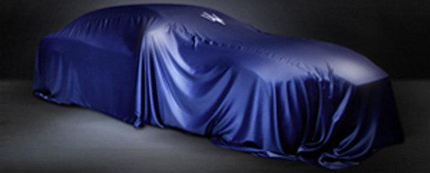 Un nou sedan Maserati anuntat de un teaser