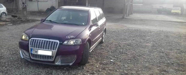 Un Opel Astra din judetul Timis se crede Audi A3