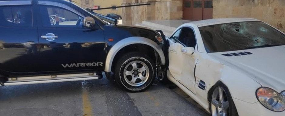 Un politist a facut tandari Mercedes-ul sefului sau dupa ce acesta l-a trimis la un control psihiatric