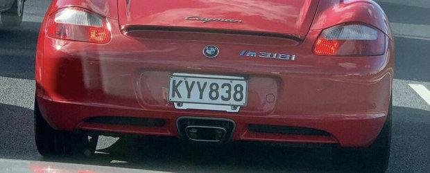 Un Porsche Cayman de generatie mai veche se crede BMW M318i. POZE REALE