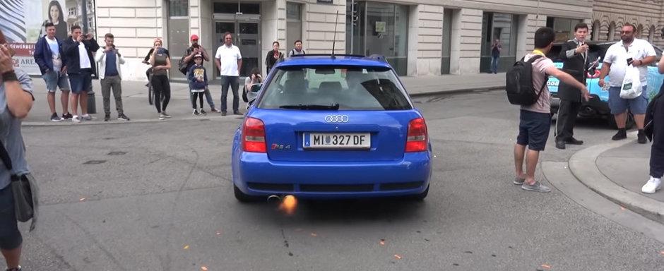 Un RS4 cu ANTILAG a creat haos pe strazile din Viena. Lumea credea c-a inceput al Treilea Razboi Mondial