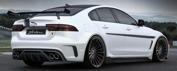 Un sedan pe care si l-ar dori oricine. Jaguar-ul tunat de Arden are 464 de cai si arata agresiv din cale afara