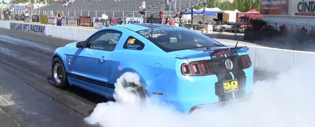 Un Shelby GT500 de peste 1000 cp face sfertul de mila in 8 secunde