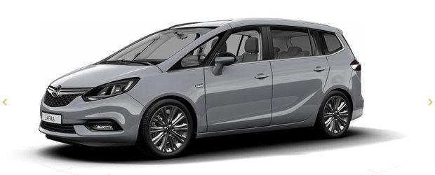 """Un site GM dezvaluie """"din greseala"""" variana facelift a noului Opel Zafira"""