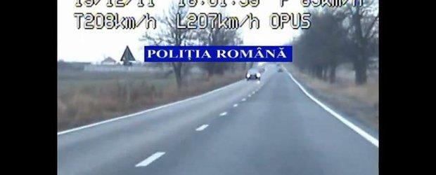 Un sofer de BMW a fost prins cu 207 km/h in judetul Timis