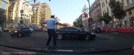 Un sofer de Mercedes ultimul-racnet reuseste sa-l lase cu gura cascata pe un politist din Bucuresti