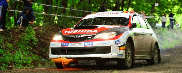 Un Subaru alearga la Delta Rally cu incendiu la bord: Adrian Dragan si Vali Bradateanu