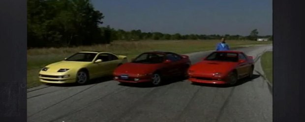 Un test comparativ din 1990 cu Nissan 300ZX Turbo, RX-7 Turbo II si MR2 Turbo