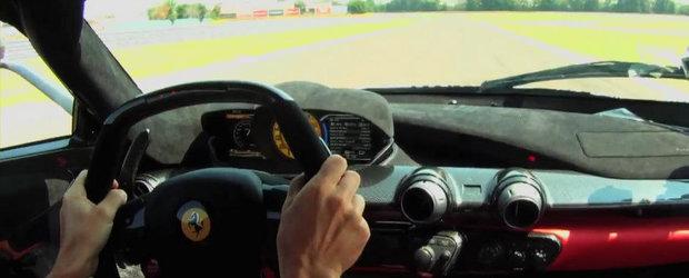 Un tur de pista la Fiorano cu Fernando Alonso si Ferrari LaFerrari