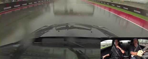 Un tur pe ploaie la bordul unui Cadillac CTS-V de 750 cai putere