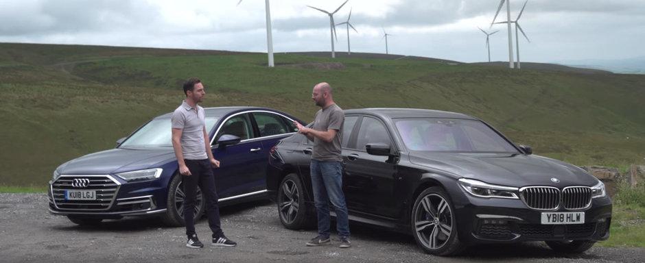 Un VIDEO pe care-l asteptai de mult. Care se conduce mai bine dintre BMW Seria 7 si Audi A8?