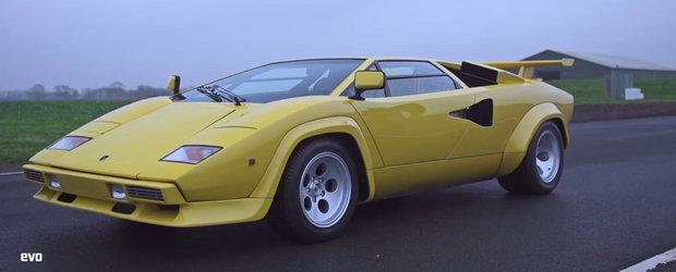 Un vis devenit realitate: Cu Lamborghini-ul Countach pe circuit