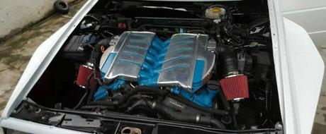 Un Volkswagen Golf 2 cu motor W12 e ceva ce nu vezi chiar in fiecare zi