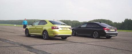 Una are 280 CP, cealalta... de peste doua ori mai mult. Liniuta intre Skoda Superb 280 si BMW M760Li