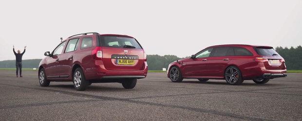 Una are 90 de CAI, cealalta... putin PESTE 600. Liniuta intre Dacia Logan MCV si Mercedes E63 S T-Modell