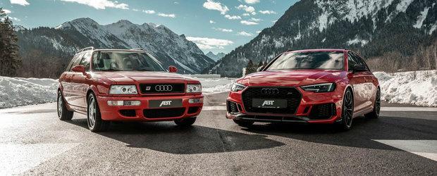 Una cu traditia, cealalta cu puterea. Sedinta foto cu legendarul Audi RS2 si cel mai nou RS4 Avant