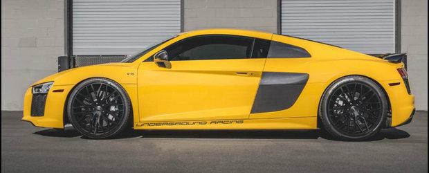 Underground Racing fac ce stiu ei mai bine cu Audi-ul R8 V10, si dopeaza supercarul german cu 2.200 de cai putere.