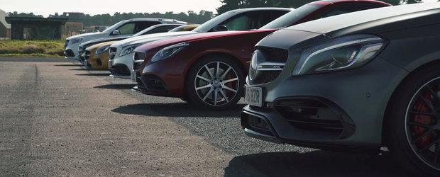 Unele cu 4, altele cu 12 cilindri. Super-liniuta intre sase Mercedes-uri AMG