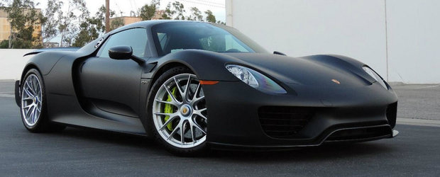 Unicul Porsche 918 fara vopsea si cu pachetul Weissach e de vanzare in SUA