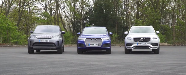 Unii fac SUV-uri mai bune decat altii. Test comparativ intre Audi Q7, Land Rover Discovery si Volvo XC90