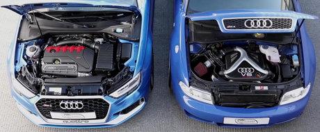Unii zic c-ar fi cel mai tare RS din istorie. Cum se descurca vechiul RS4 B5 impotriva noului RS3