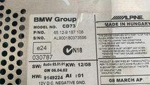 Unitate CD Casetofon 9187108 Alpine CD73 BMW Seria...