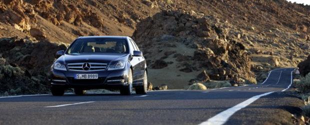 Update Foto: Mercedes C-Class primeste o noua fata, plus alte imbunatatiri