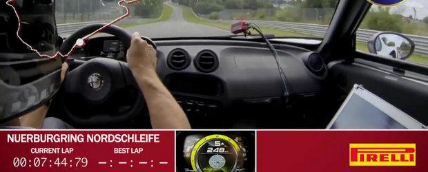 UPDATE VIDEO: Noua Alfa Romeo 4C, mai rapida la Nurburgring decat BMW M3 E92!