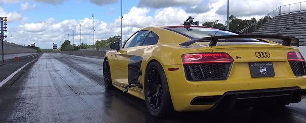Urmareste un Audi R8 de 1250 CP doborand recordul la 0 - 402 metri
