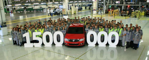 Uzina Dacia a produs 1.500.000 de vehicule pe platforma X90