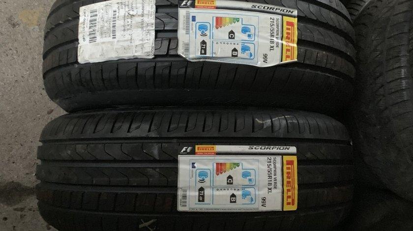 Vând 4 anvelope 215/55/18 Pirelli de vară noi