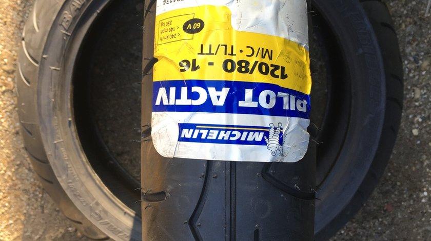 Vând anvelopă 120/80/16 Michelin nouă