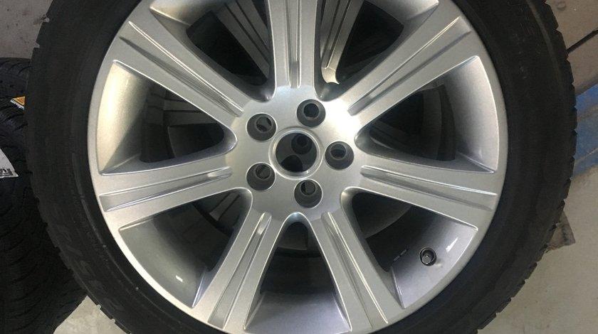 """Vând jante originale Jaguar pe 18"""" cu anvelope Pirelli de iarnă noi"""