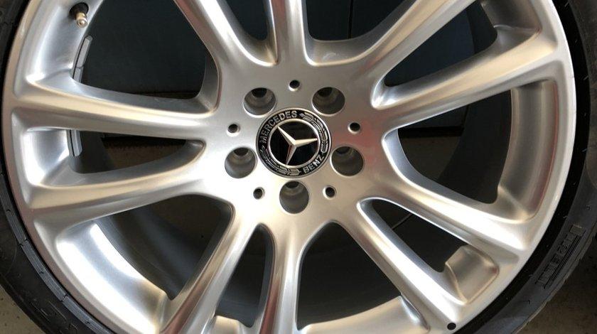 """Vând jante originale Mercedes Cls,SL,E-clas pe 19"""" in doua lățimi cu anvelope Pirelli noi"""