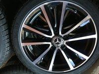 """Vând jante originale Mercedes pe 18"""" cu anvelope noi de iarna"""