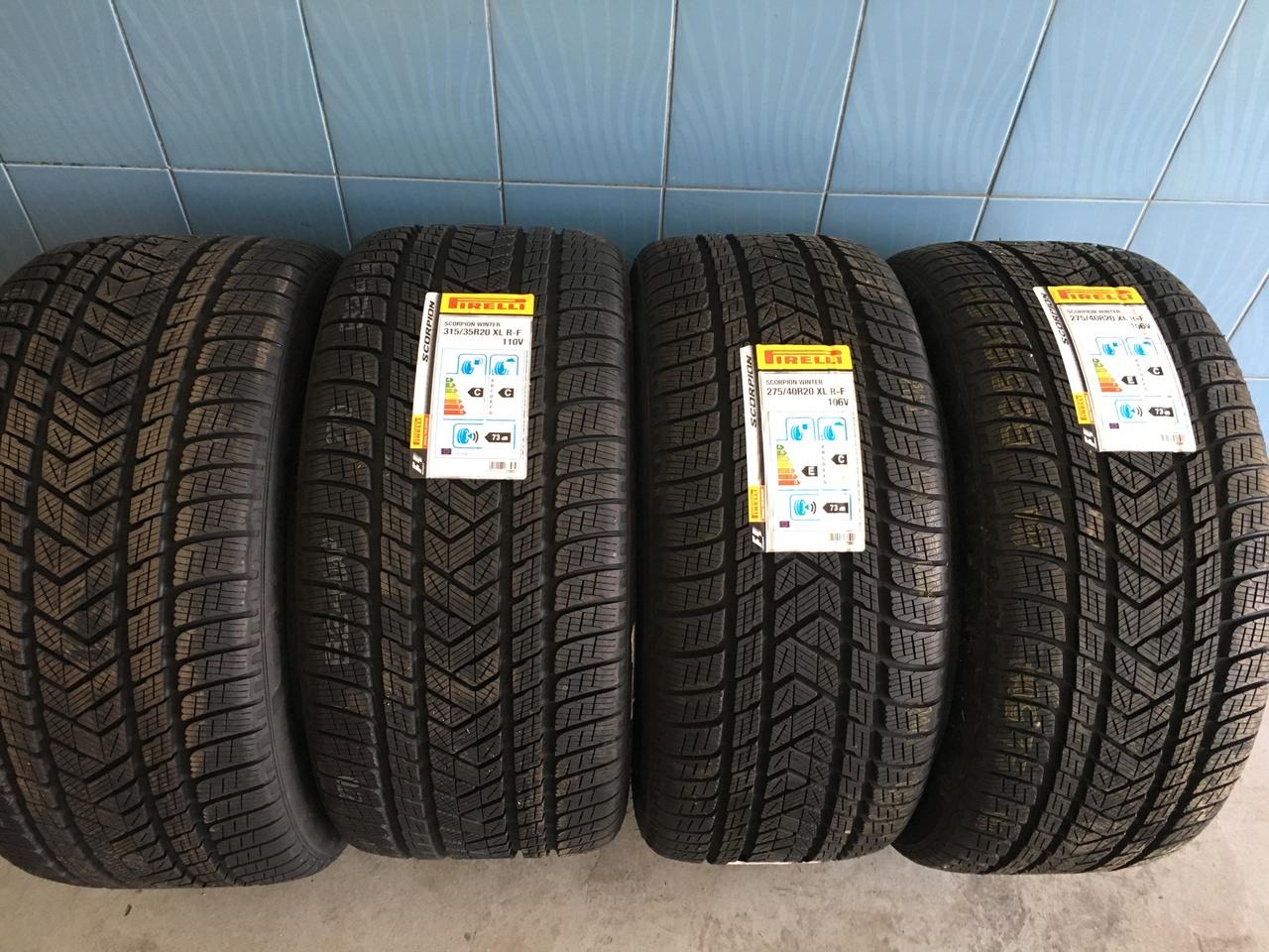 Vând set anvelope ptr Bmw X5-X6 275/40/20-315/35/20 Pirelli de iarna noi